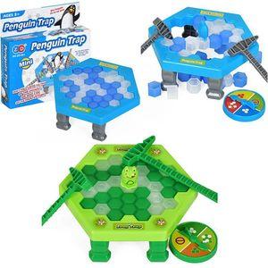 아이스 브레이킹 저장 펭귄 가족의 즐거운 게임 펭귄 개구리 트랩 활성화 표 게임 인터랙티브 엔터테인먼트 표 장난감 보드 게임