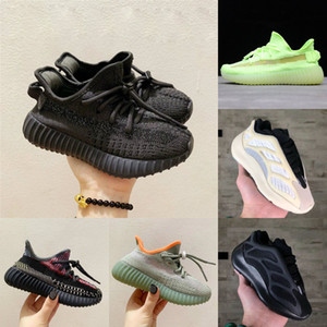 2020New Kids Shoes Baby 700 V2 Running Shoes Static Reflective Boy Girl Kanye West 700 V3 Sneakers Clay Toddler Trainer Children