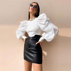 Kadın Kazak 2021 Kış Kadın Kazak Katı Siyah Beyaz Rahat Moda Kazak Temel Jumper Sonbahar O Boyun Örme Örgü Kadın