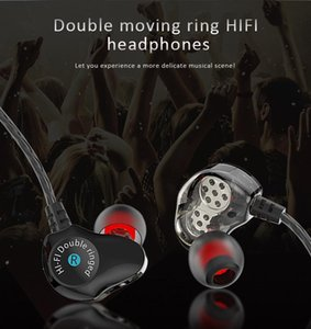 D6 3.5mm In-ear Wired Headset Quad-core Dual-motion Coil Super Bass Headset Voice Sports Music
