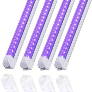 4 обновления LED UV Black Light 1FT 10W T8 Встроенная трубка лампа связываемых прозрачной крышкой, для Blacklight Плакат, партии, клуб, бар, фестиваль освещения