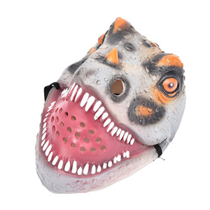 Halloween Rave accessories frill Dinosaur Masquerade Festival Emulsion Realistic Costume Toy mask #4