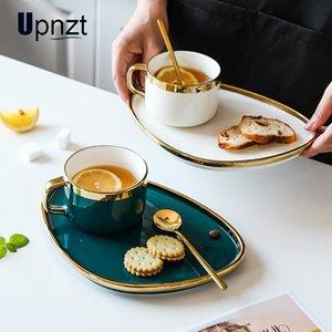 Изысканный кофе набор Европейская роскошь Phnom Penh Ceramic Home Послеобеденная чашка чая с десертным подносом Y1123