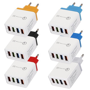 4 USB Fast Phone Charger 5V 3A Multi-port Travel Charger Plug Fast Charger Mobile For iphone 11 pro max samsung