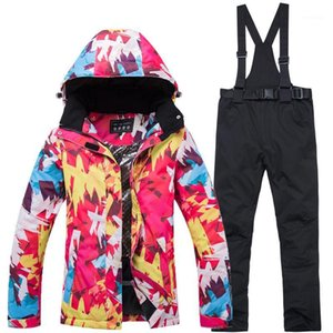 New Thick Warm Women Ski Suit Waterproof Windproof Skiing Snowboarding Jacket Pants Set Women Winter Snow Wear Suits1