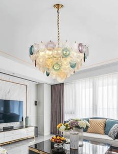 vidrieras moderna lámpara LED se enciende de color de la lámpara de la moda lámparas colgantes personalidad creativa comedor dormitorio sala de estar