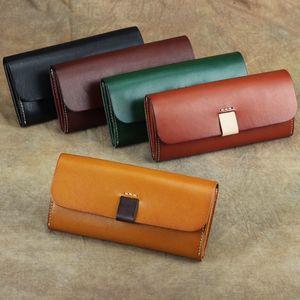 100% Women's Genuine Leather Female Clutch Long Wallet Womens Wallets and Purses Portomonee Money Bag Coin Purse