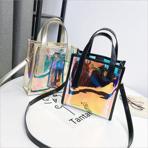 Transparent Laser Messenger Bags Jelly Rainbow Hologram Transparent Handbag for Women Composite Bag Ladies Travel Bags1