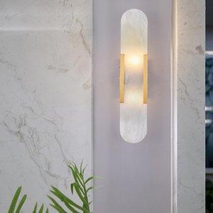 Nordic modern natural marble wall lights sitting room bedroom staircase corridor wall lamp coffe bar decoration lamp