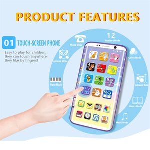 Hot Selling Kids Smart Phone Toys Educational Smart Phone Toy USB Port Touching Screen for Child Kid Baby 201214