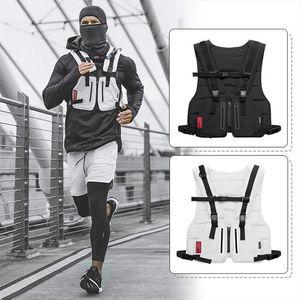 waist bag New Multi function Tactical Vest Outdoor Sports Fitness Men Protective Tops Vest Zipper Pockets Waist Bag