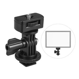 "Universal Adjustable Cold Hot Shoe Mount Adapter with 1 4"" Screw for Viltrox and other Brands LED Light Video Monitor"
