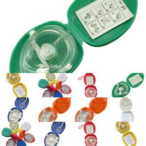Avec poche 10pcs / lot CPR masque de sauvetage Soupape à couper le souffle à sens unique pour la formation des premiers secours Équipement d'urgence Multir0eg 7fd5s