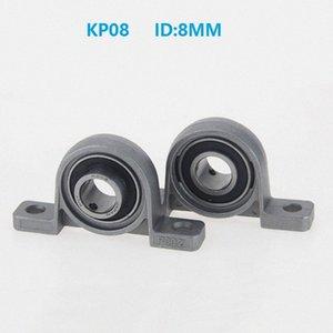 100pcs lot KP08 8mm Bore Diameter P08 Zinc Alloy Bearing 8 mm Pillow Block Mounted Support Housing Insert Bearing bracket 5h86#