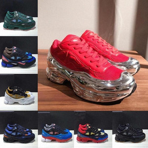 2021 New Fashion Originales RAF Simons Ozweego III Hombres deportivos Mujeres Clunky Metallic Sneakers Silver Sneakers Dorky Casual Shoes Tamaño 36-45 203e #