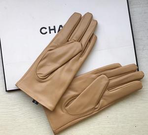 Maylofuer Khaki Genuine Sheepskin Leather gloves lambskin bow gloves touch screen grey high grade sheepskin lady