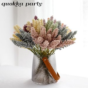 1 Bunch Fall Home Decor Artificial Fake Dried Cereal Flowers Plants For Autumn Party Wedding Home Decoration New Year Wreath
