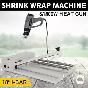Powder-coated & durable 18inch I-Bar Shrink Wrap Machine Heat Sealer Heat Gun Food Soap Instant Seal easy to operate