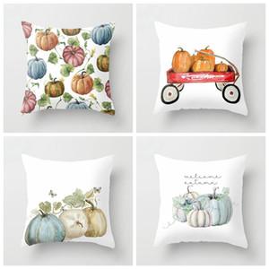 Halloween Pumpkin Series Decorazione federa stampata colorata casa cuscino copertura poliestere sofà decor copertura cuscino GWD4322