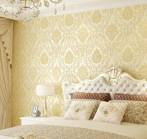 Modern Damask Wallpaper Wall Paper Embossed Textured 3d Wall Covering For Bedroom Living Room Home Decor wmtJWkS dayupshop