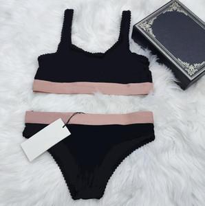 2021 Verão Sexy de dois peças Bikini para Mulheres Swimsuit com letras Hot Moda Perspectiva Swimwear Senhora Banheira Ternos 3 estilos S-XL