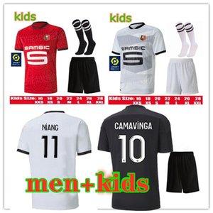 2020 2021 Stade Rennais Camavesa Jersey de football 20 21 Niang Terrier Bourigeaud Raphinha Maillot de pied Hommes et enfants Kit de football