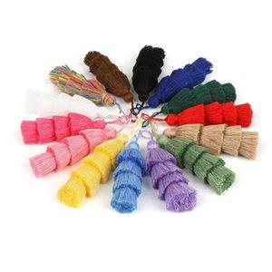 1 pc 4 camadas poliéster algodão tassel trim 8cm borlas de seda para decoração de casamento em casa DIY Costura cortinas acessórios h bbycsw