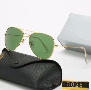 Alta Qualidade Novo.RaioHomens mulheres óculos de sol vintage marca Sun óculos de sol UV400ProibiçõesBen Wayfarer com Box 3026