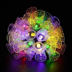 String Licht 20 LED Solarlampen Wasserdichte Outdoor Glocken Fairy Garten Baum Bell Neues Jahr Gartendekoration Großhandel Dropship Gwe4014