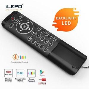 2.4G mouse dell'aria mini tastiera 360 ° wire-less Controllo vocale con la girobussola LED luce Learning retroilluminazione Keybaord MT1