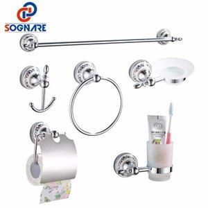 Sognare de bain Accessoires simple serviette bar Crochet papier Porte-gobelet Holdersoap Box Set Bath Hardware Sets D1900 yxltcz loveshop01