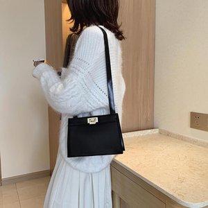 Damentaschen einfache feste hohe Qualität Pull-Verschluss Crossbody Beutel Wilde Retro Fashion Schulter 2020 neue # G1