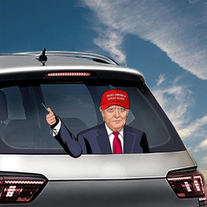 Elección presidencial de los EEUU etiquetas engomadas del coche del parabrisas Biden Sticker Trump pegatinas de coches 2020 elección presidencial estadounidense limpiaparabrisas pegatinas VT1582
