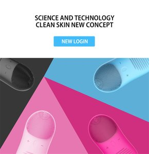 Silicone Vibration Electric Massage Face Washing Brush Blackhead Remover Pore Cleaner Multi Portable Face Cleaner Massager