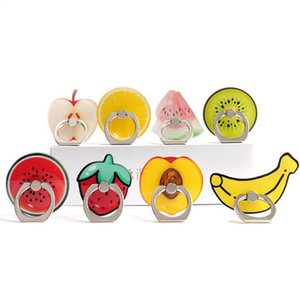 Finger Ring Mobile Phone Smartphone Watermelon Stand Holder Cute Fruit Banana 360 Degree mobile phone support WY1104