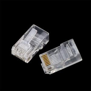 omputer Büro kebidu 30pcs Qualitäts-Heads RJ45 RJ45 CAT5 CAT6 Modularstecker Ethernet Connector fest oder 8 Pins Netzwerk Ca gestrandet ...