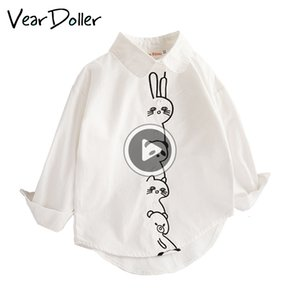GM7J VearDoller meninas camiseta Primavera Outono manga comprida Tops Cute Padrão animal dos desenhos animados roupas de criança CASL Baby Girl Blusa LJ200828