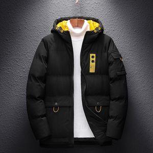 Fashion-2020 Brand Jackets Men Winter Fashion Warm Thick Parka Coat Oversize 6XL 7XL 8XL Men's Black Blue Red Padded Jacket