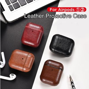 Luxury Bag For Apple AirPods Bluetooth Wireless Earphone Leather Case Cover For Air Pods