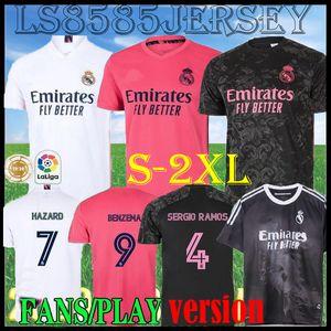20 21 Real Madrid ANA futbol forması TEHLİKESİ Sergio Ramos VINICIUS camiseta de futbol 2020 2021 BENZEMA UZAK 3RD futbol forması erkekler üniformalar