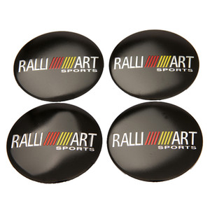 56.5mm Ralliart Aluminium Wheel Center Hub Cap Emblem Sticker For Mitsubishi ASX Lancer Pajero Outlander L200 EVO Eclipse Galant