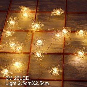 Metal Snowman Santa Claus Christmas LED String Lights Garland Decorative Fairy Light DIY Christmas Tree Ornament Home Decoration