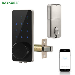 TT Lock Bluetooth Deadbolt Door Lock Digital Electronic Keyless Entry Touch Keyboard Smart Home Easy Replacement Gateway G2