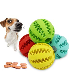 YVYOO 5 7cm Pet Dog Toys Extra-tough Rubber Ball Toy Interactive Elasticity Ball Dog Chew Toys For Tooth Cleaning D13