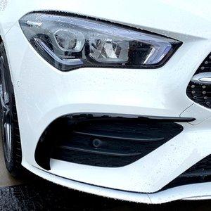 Auto Styling Nebelscheinwerfergitter Lamellen Auto Schwarz Nebelscheinwerfer Abdeckung Aufkleber Dekoration Trim für 2020 Mercedes-Benz CLA C118 CLA200 CLA260 Accessor