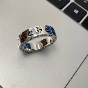 Anelli europei e americani in acciaio in titanio uomini e donne che mangiano anello single hipster non svaniscono