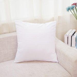 45 * 45cm Sublimation Pillowcases DIY Blank Taie d'oreiller couverture pour transfert de chaleur Canapé d'oreiller Cas blanc blanc Coussin HH9-3554