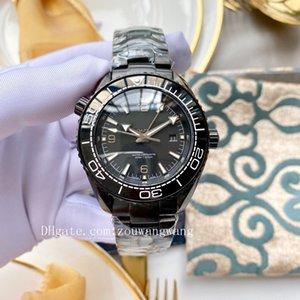 2020 high quality sea boss ceramic bezel watches deep black aqua master terra planet GMT wristwatches ocean james bond 007 mens watch D4076