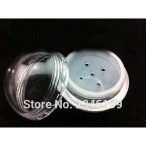 10G 50pcs / lot Plastik Pudra Kılıf, elemeleri, Göz Farı Powder / Allık Kabı ile DIY Topu Şekli Jar boşaltın