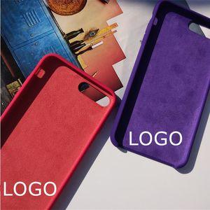 With LOGO Official Liquid Silicone Phone Case for iphone 12 pro X XS Plus 11 Pro Max SE Original Cases